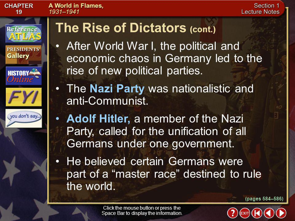 The Rise of Dictators (cont.)