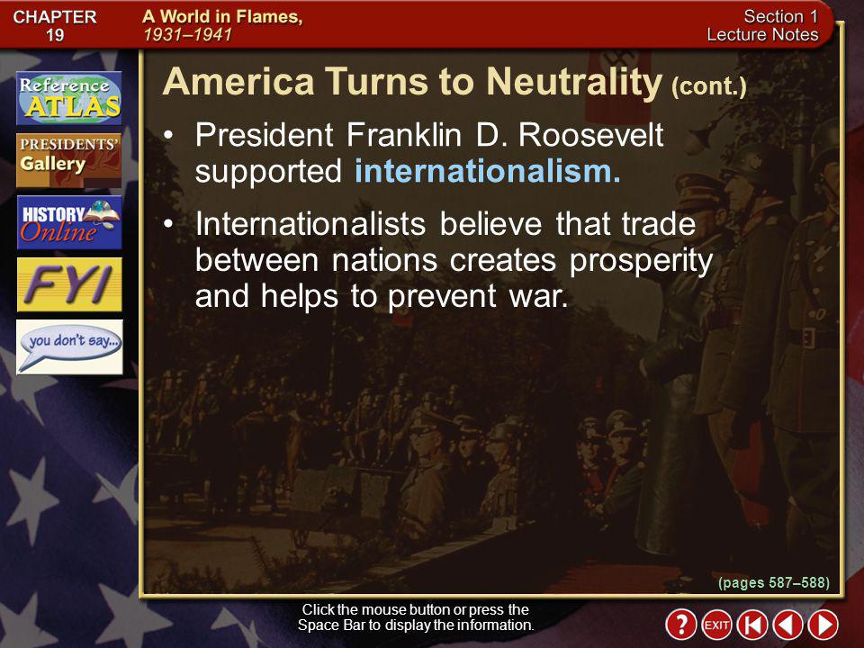 America Turns to Neutrality (cont.)
