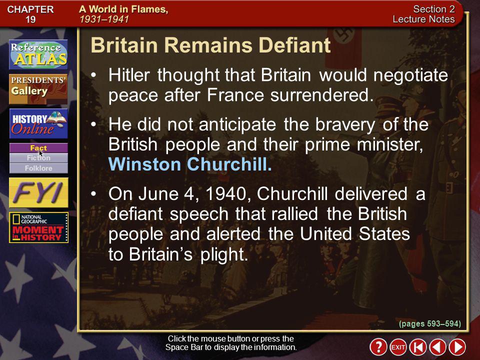 Britain Remains Defiant