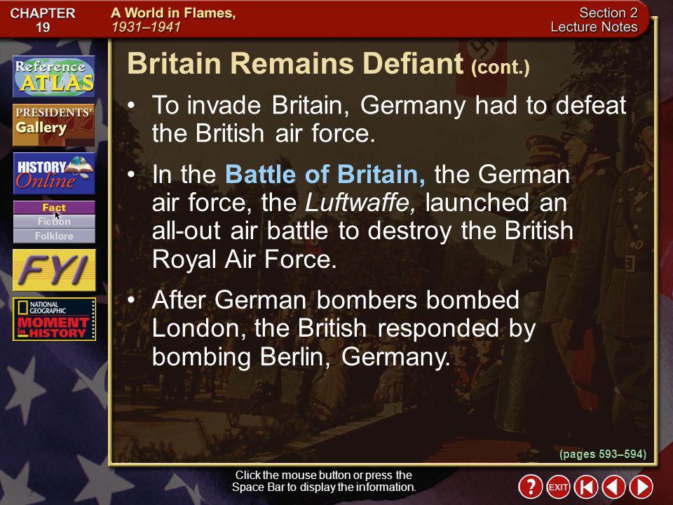 Britain Remains Defiant (cont.)