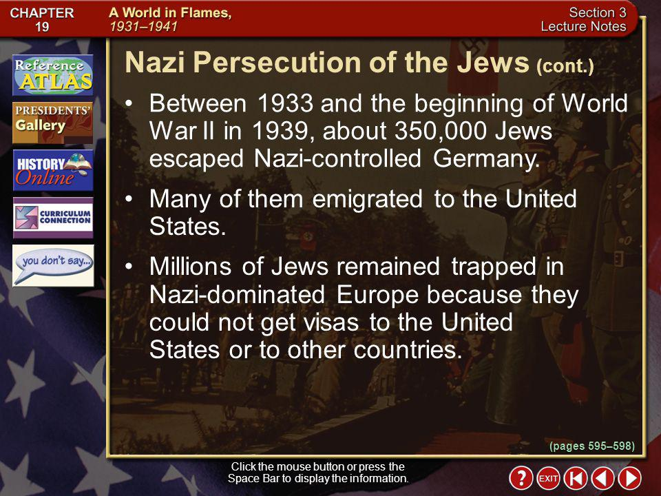 Nazi Persecution of the Jews (cont.)