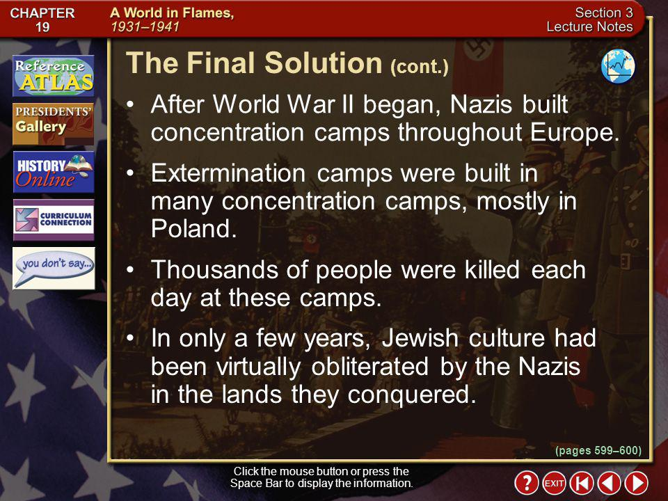 The Final Solution (cont.)