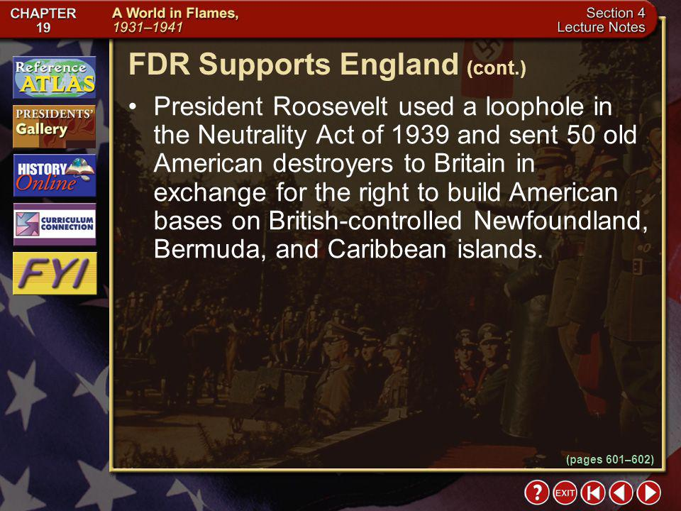 FDR Supports England (cont.)