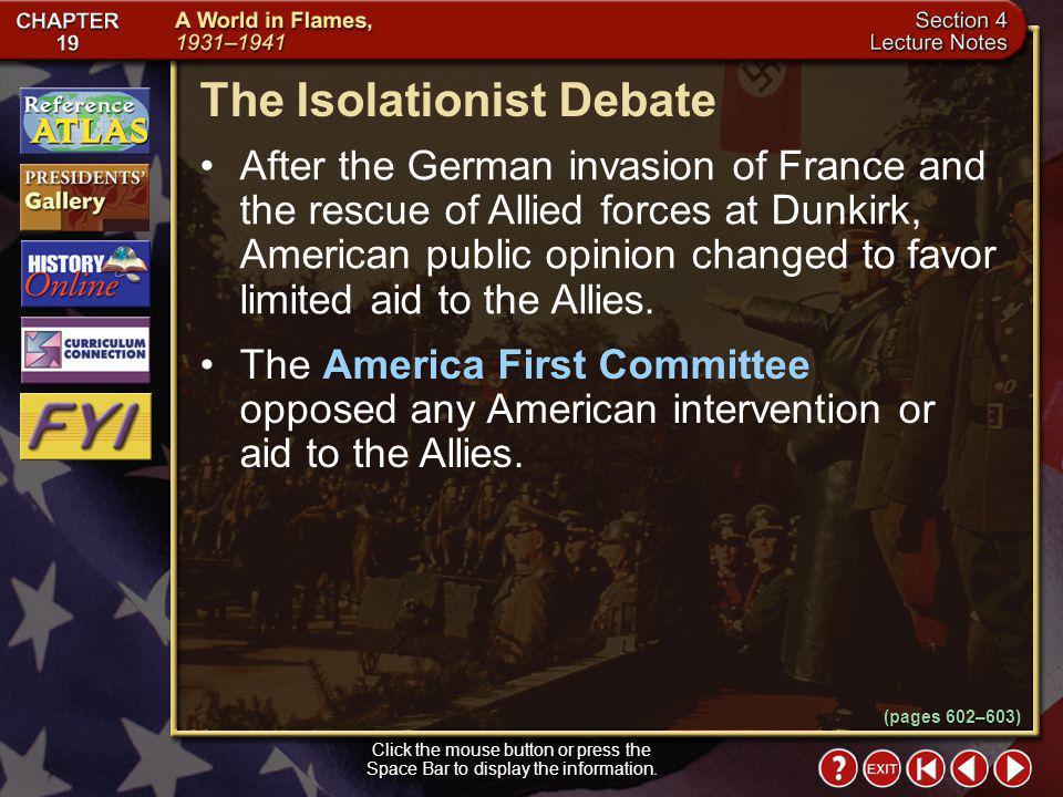 The Isolationist Debate