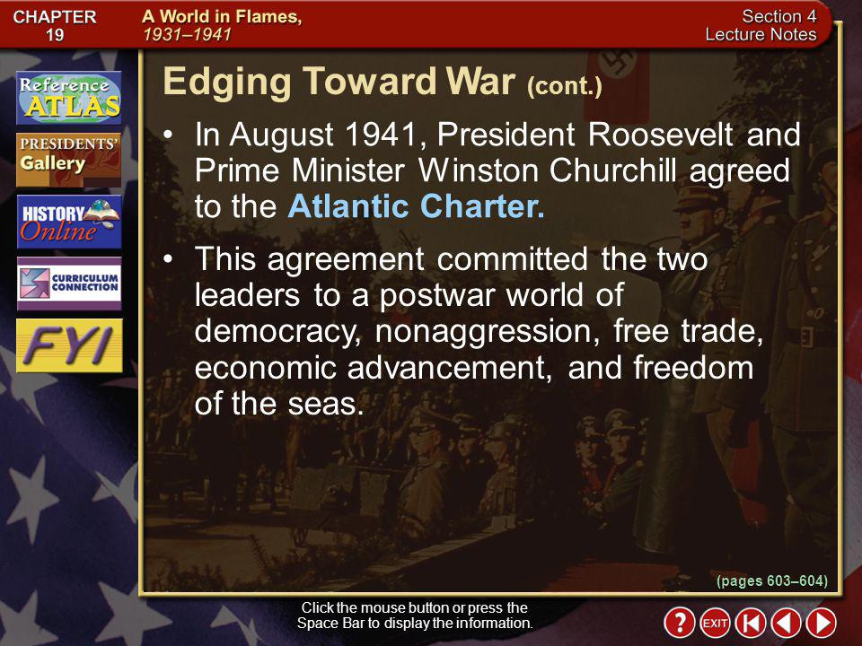 Edging Toward War (cont.)