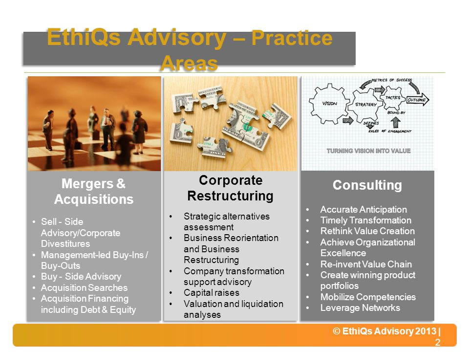 EthiQs Advisory – Practice Areas