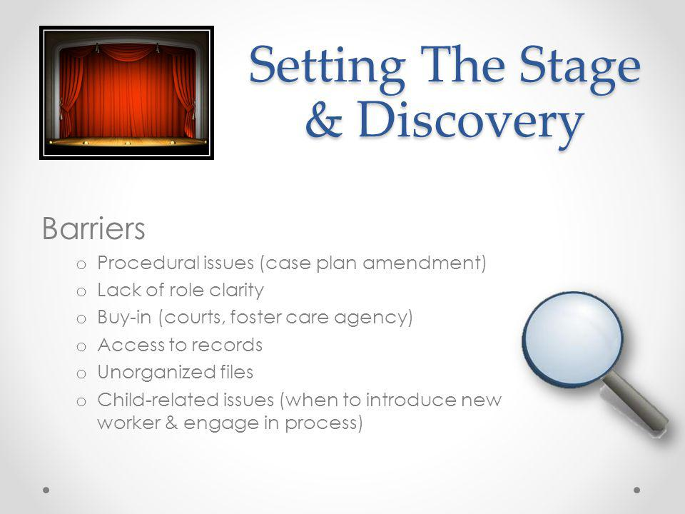 Setting The Stage & Discovery