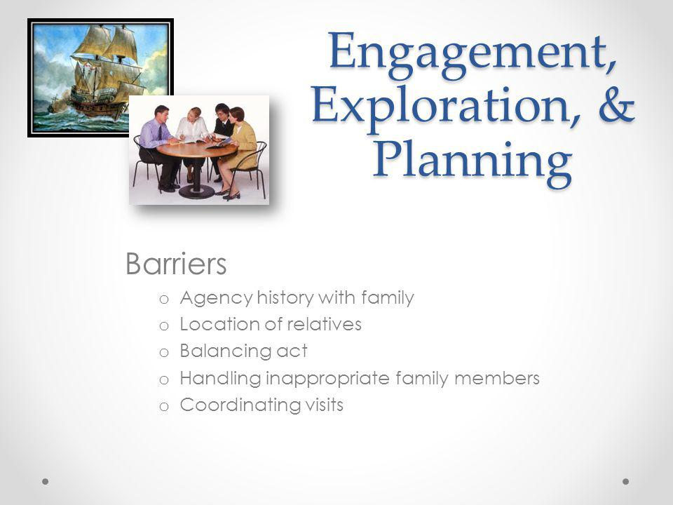 Engagement, Exploration, & Planning
