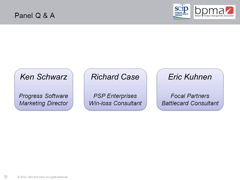 Ken Schwarz Richard Case Eric Kuhnen Panel Q & A