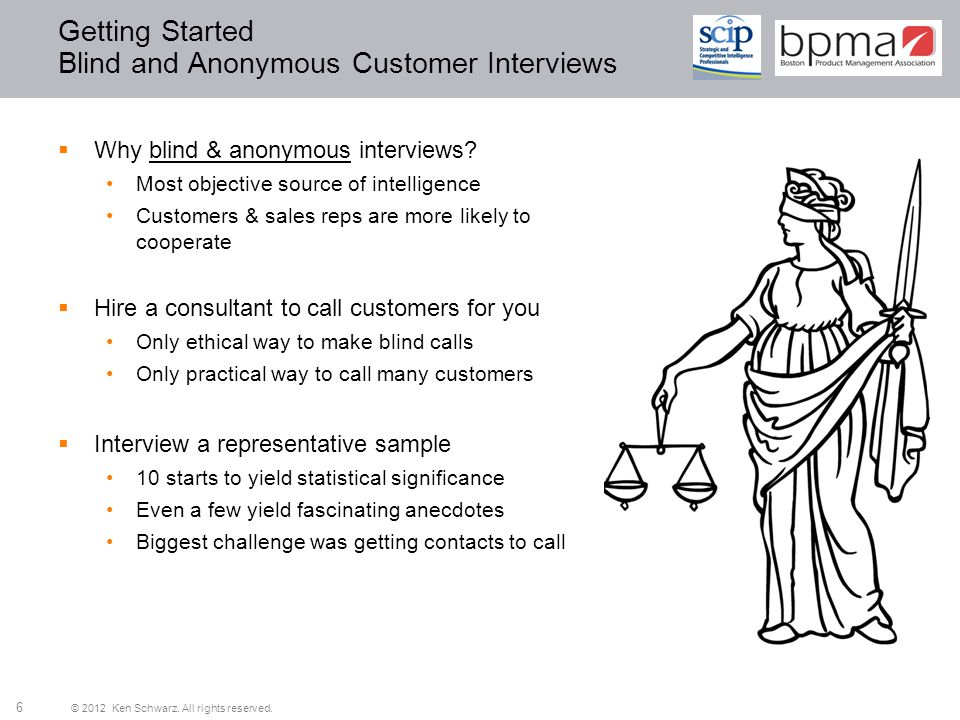 Getting Started Blind and Anonymous Customer Interviews