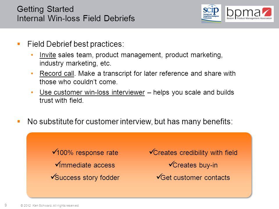 Getting Started Internal Win-loss Field Debriefs