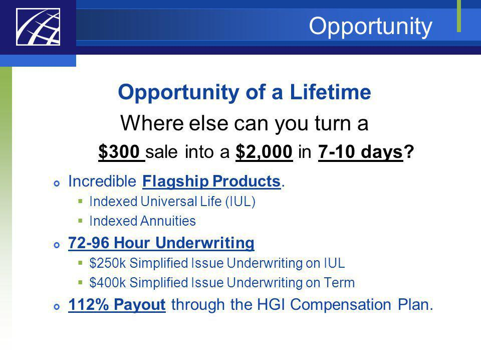 Opportunity of a Lifetime