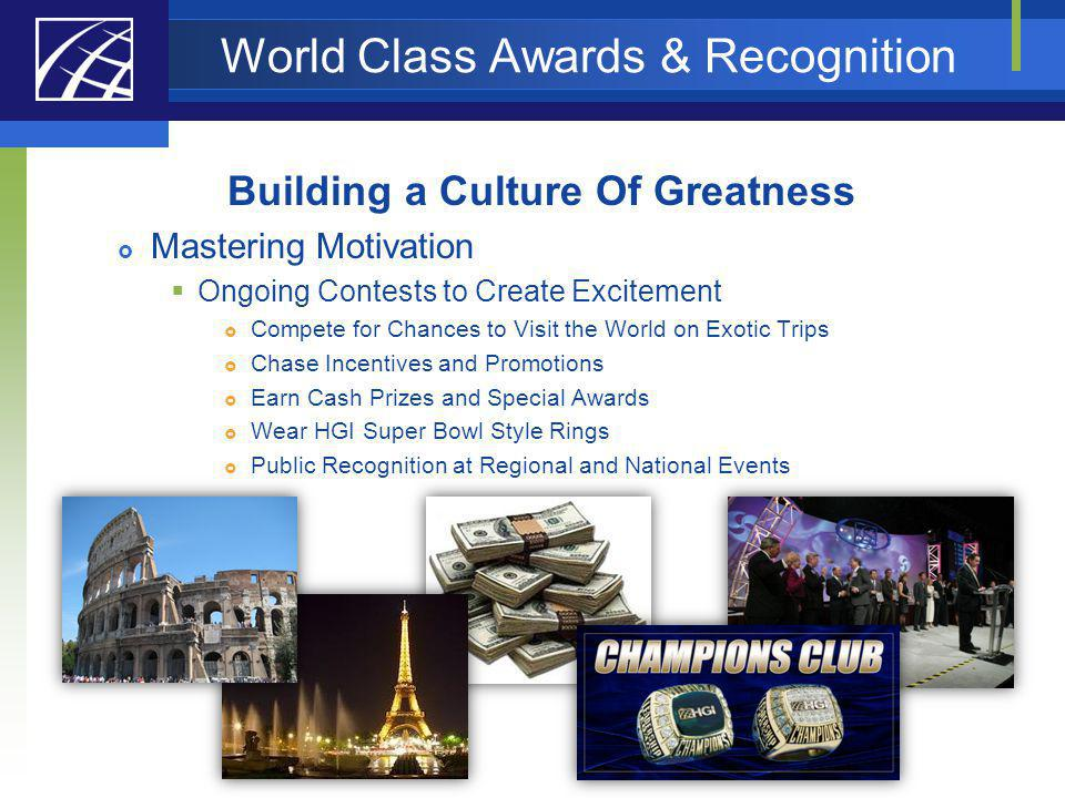 World Class Awards & Recognition