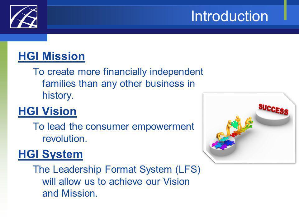 Introduction HGI Mission HGI Vision HGI System