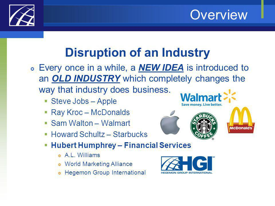 Disruption of an Industry