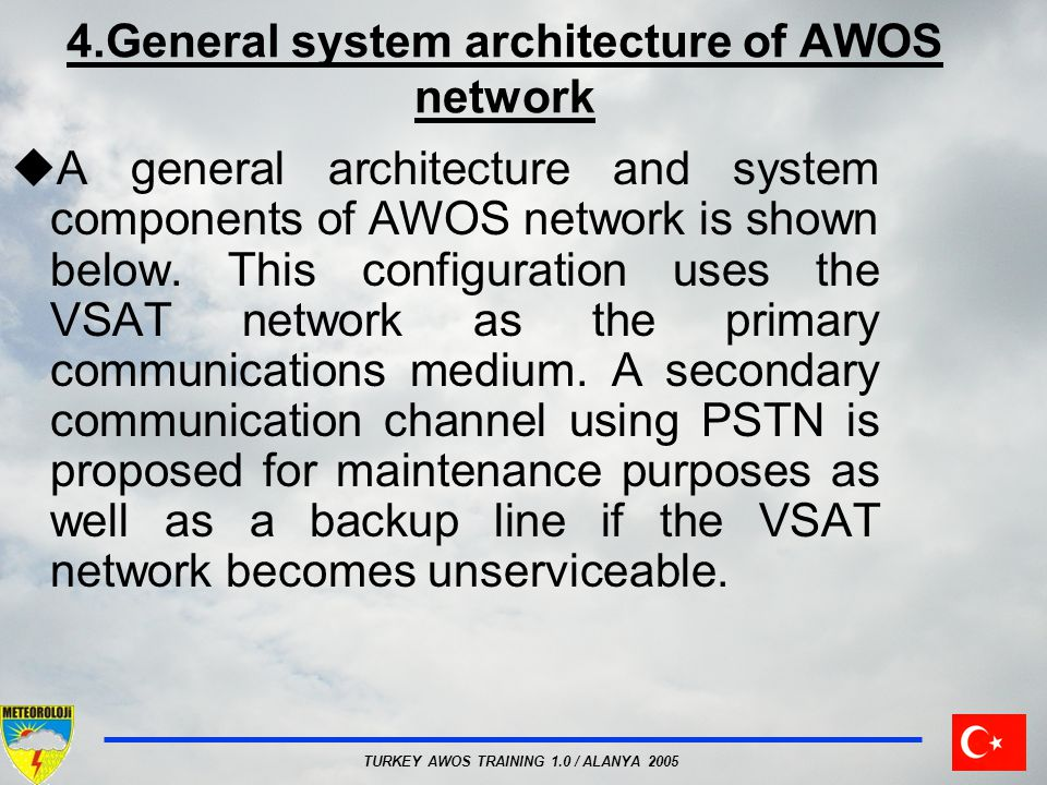 4.General system architecture of AWOS network