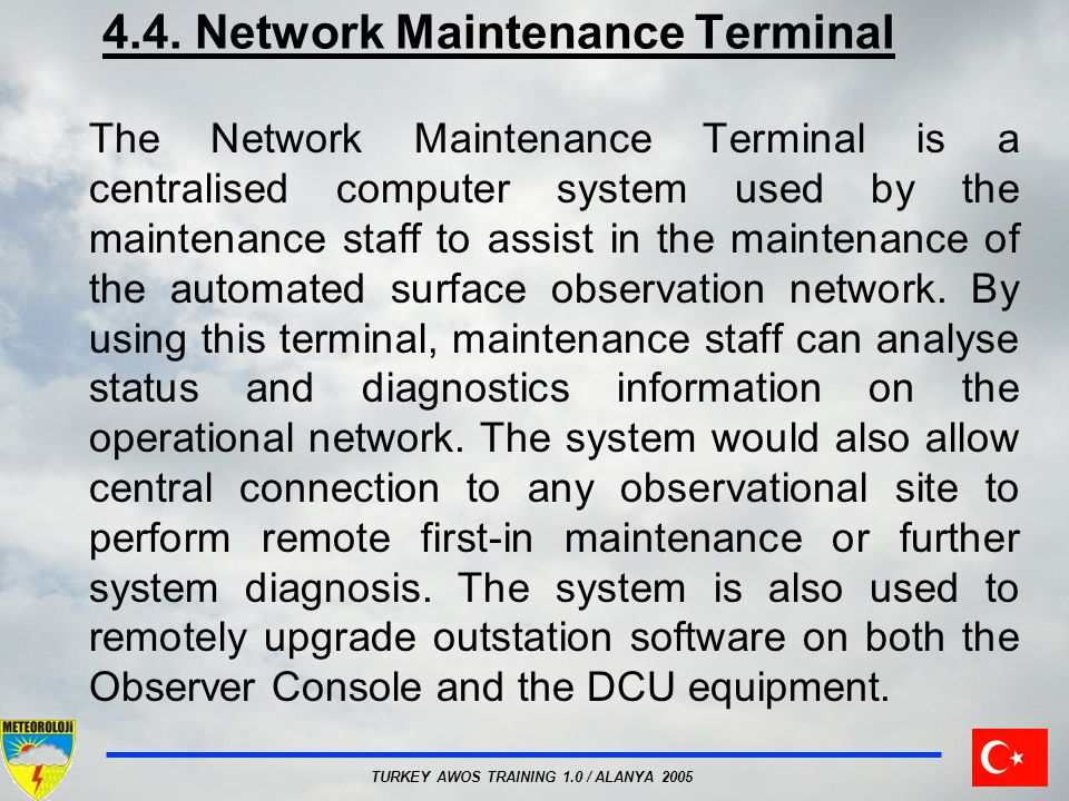 4.4. Network Maintenance Terminal