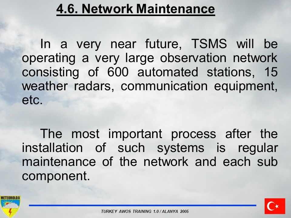 4.6. Network Maintenance