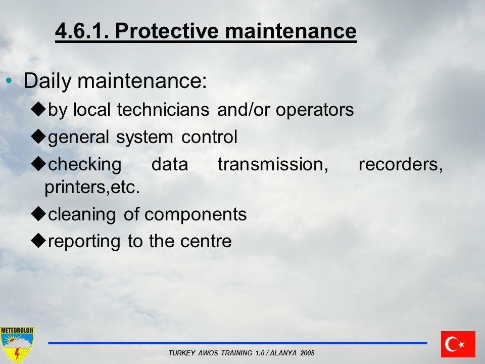 4.6.1. Protective maintenance