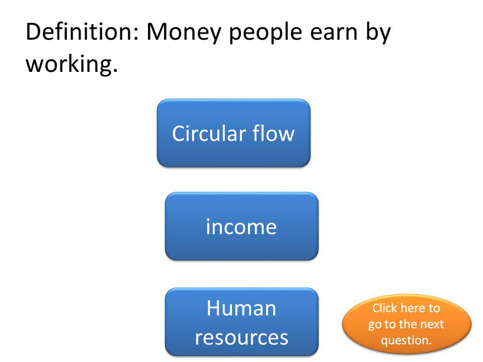 Definition: Money people earn by working.