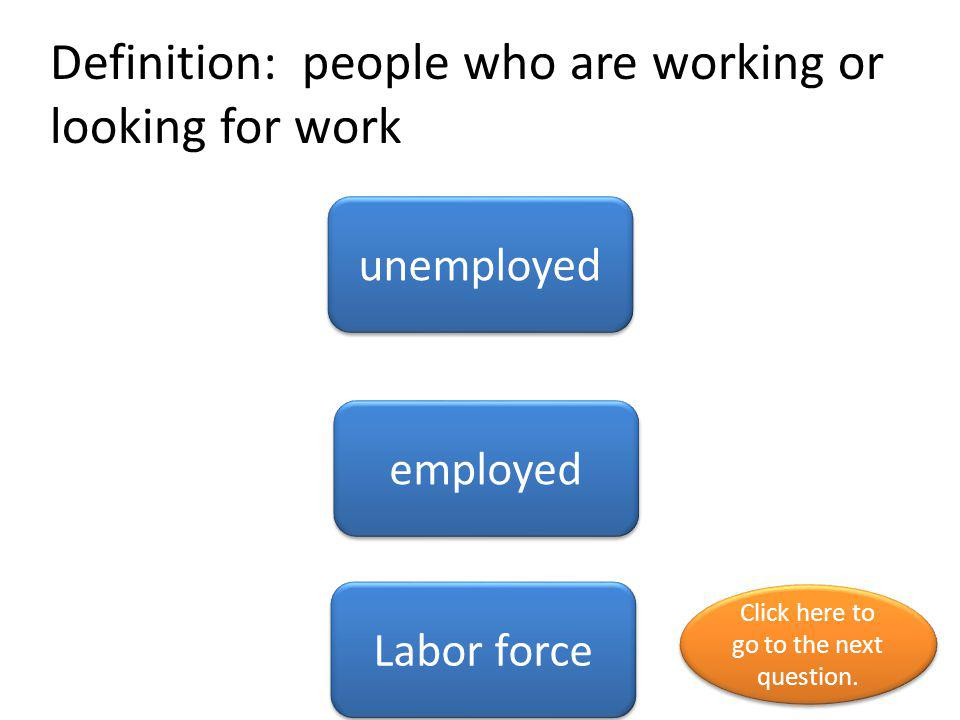 Definition: people who are working or looking for work