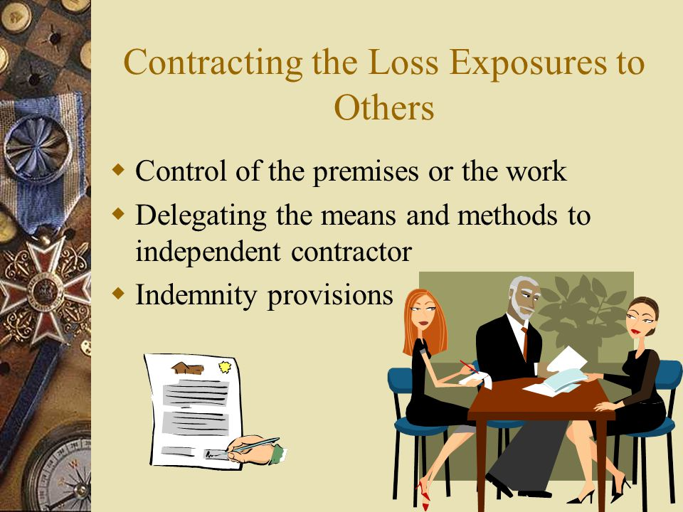 Contracting the Loss Exposures to Others