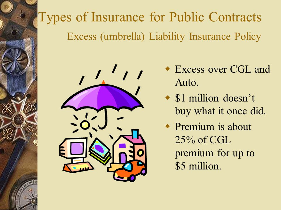 Types of Insurance for Public Contracts