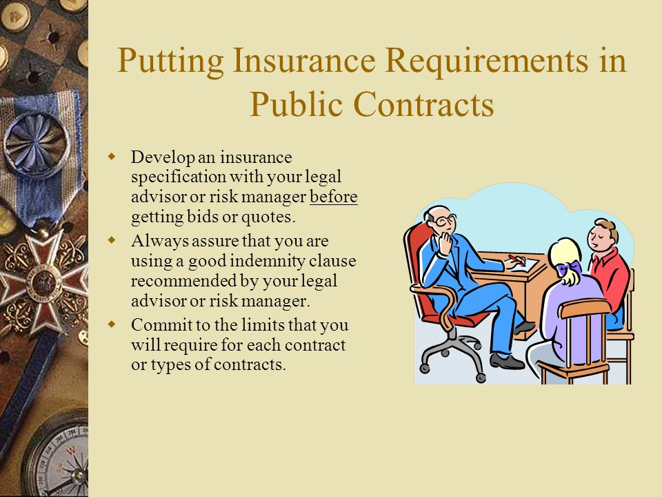 Putting Insurance Requirements in Public Contracts