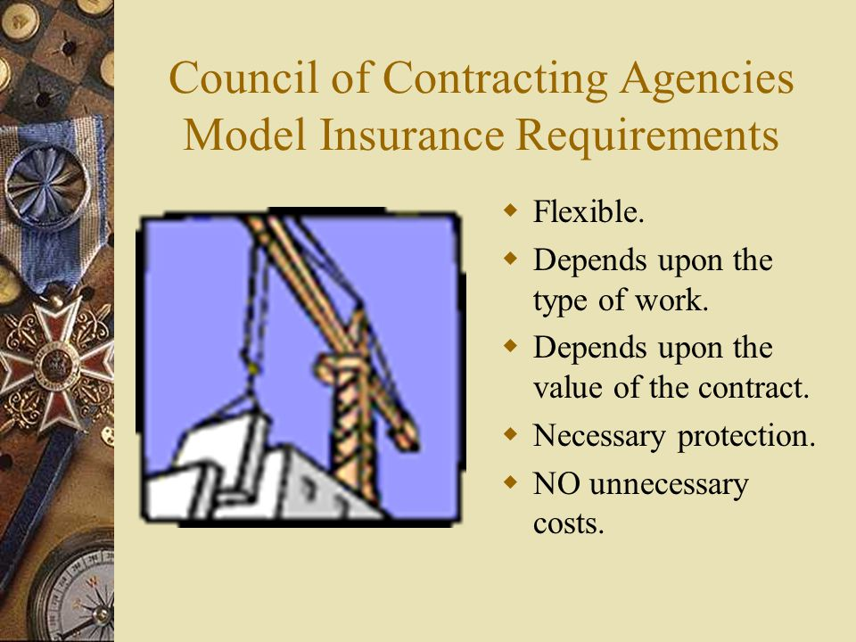Council of Contracting Agencies Model Insurance Requirements