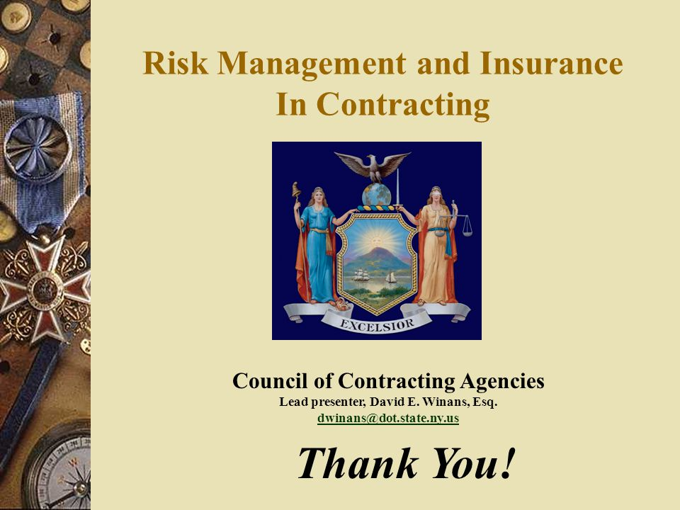 Risk Management and Insurance In Contracting