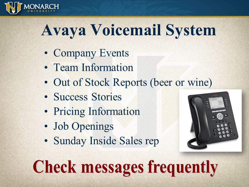 Avaya Voicemail System