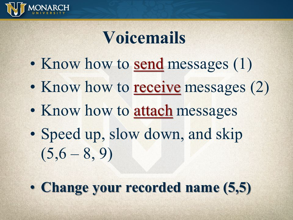 Voicemails Know how to send messages (1)