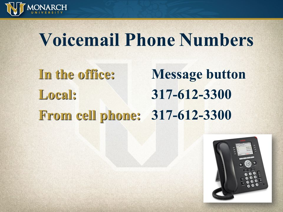Voicemail Phone Numbers