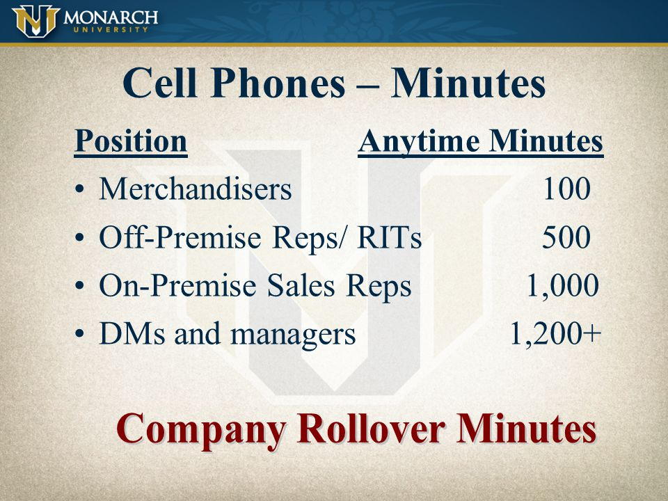 Company Rollover Minutes