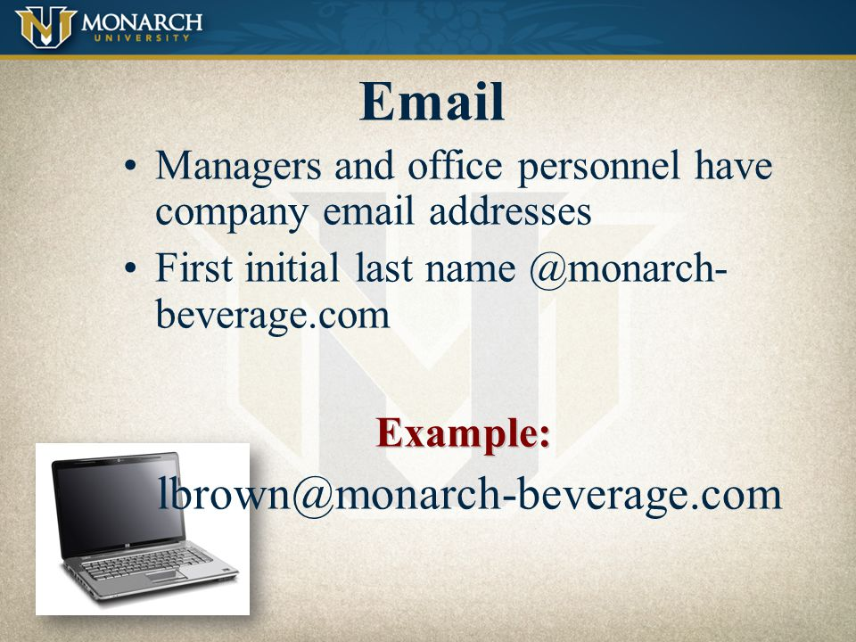Email lbrown@monarch-beverage.com