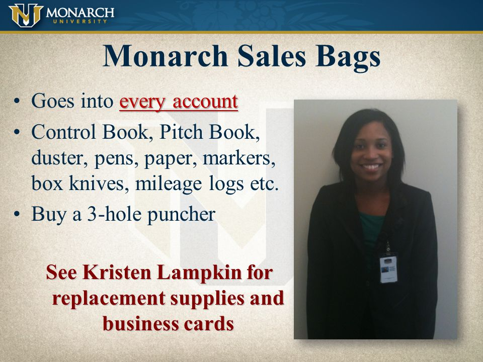 See Kristen Lampkin for replacement supplies and business cards