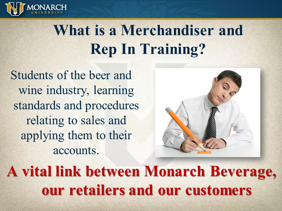 What is a Merchandiser and Rep In Training
