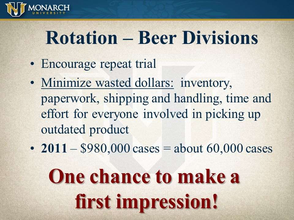 Rotation – Beer Divisions