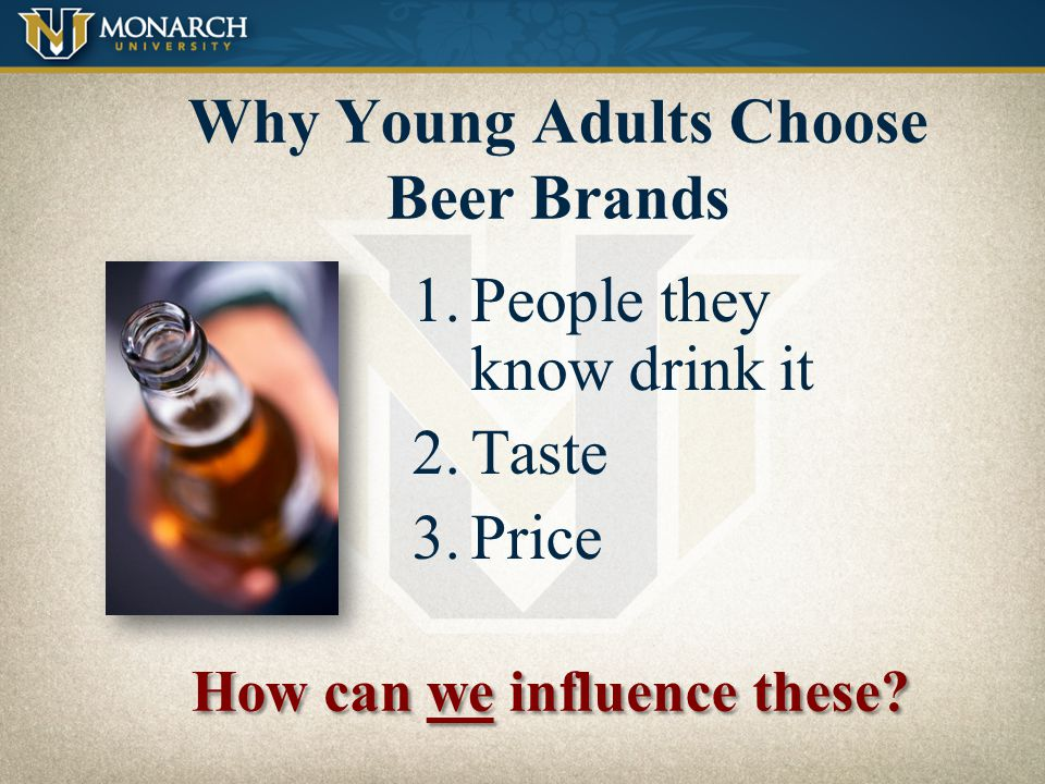 Why Young Adults Choose Beer Brands