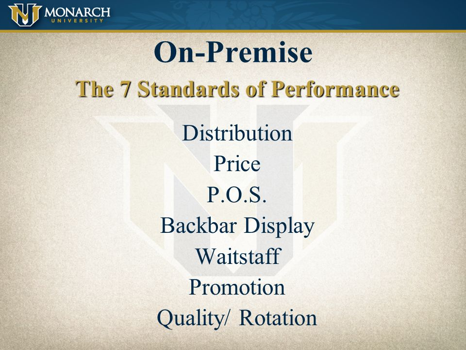 The 7 Standards of Performance