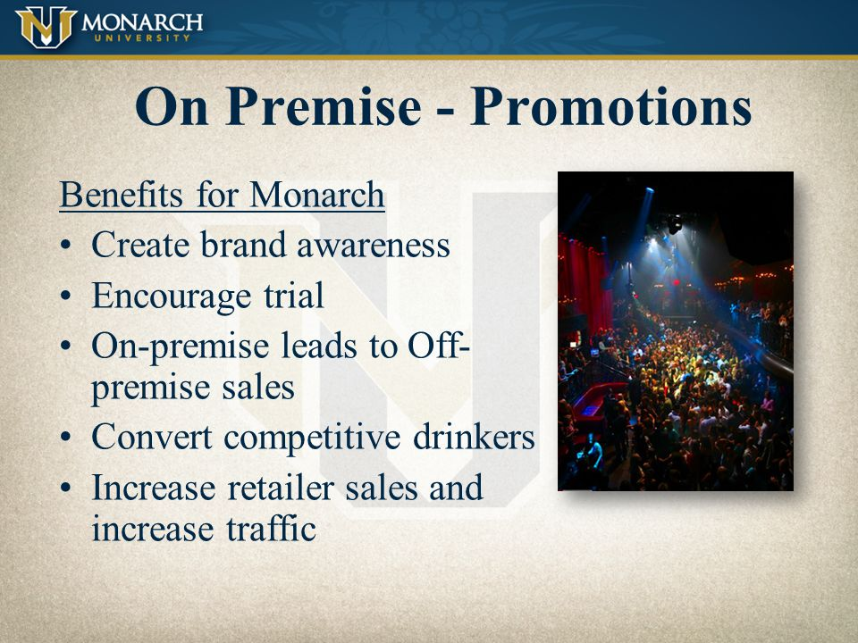 On Premise - Promotions