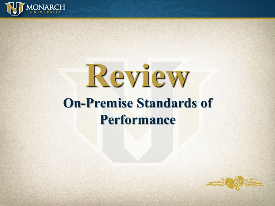 Review On-Premise Standards of Performance