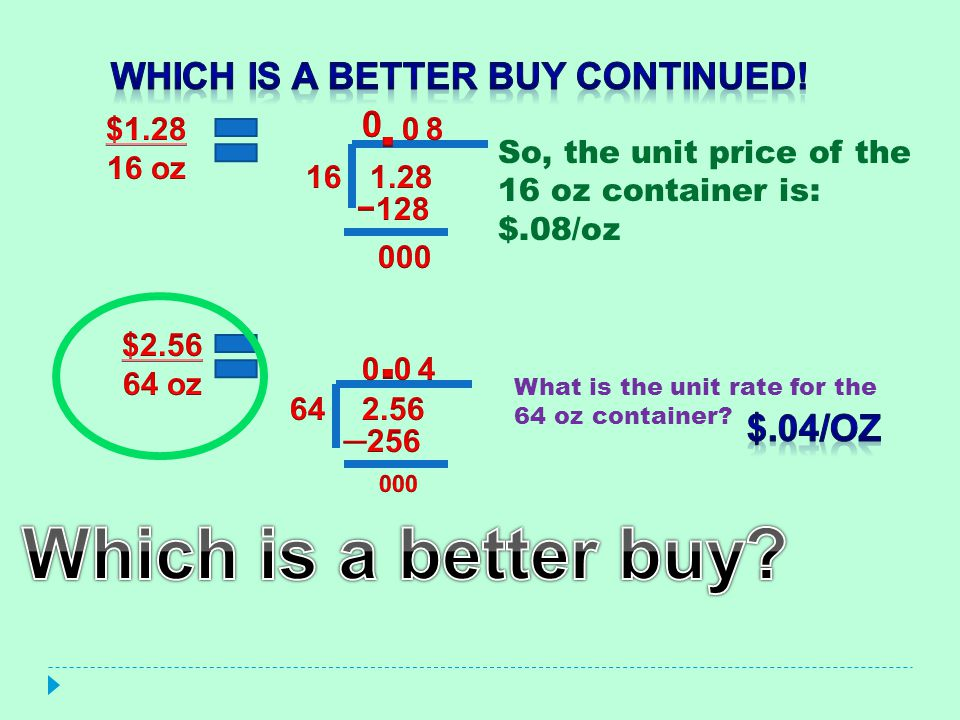 Which is a better Buy continued!
