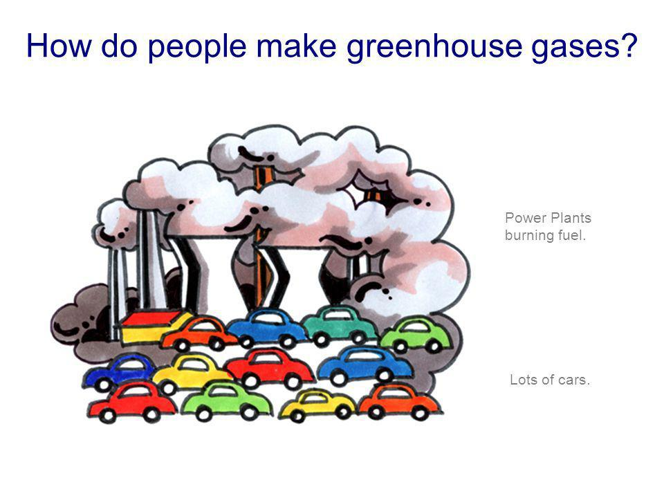How do people make greenhouse gases