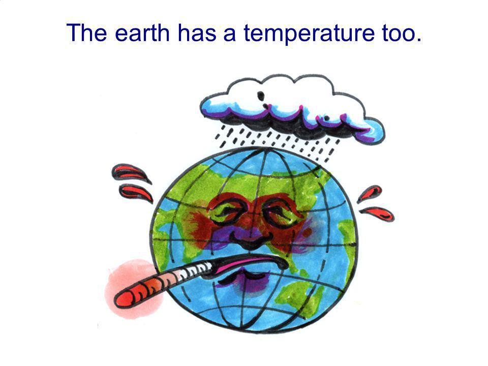 The earth has a temperature too.
