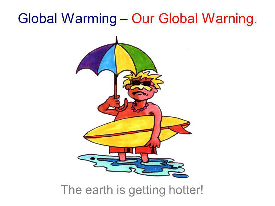 Global Warming – Our Global Warning.