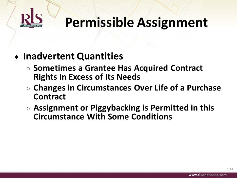 Permissible Assignment