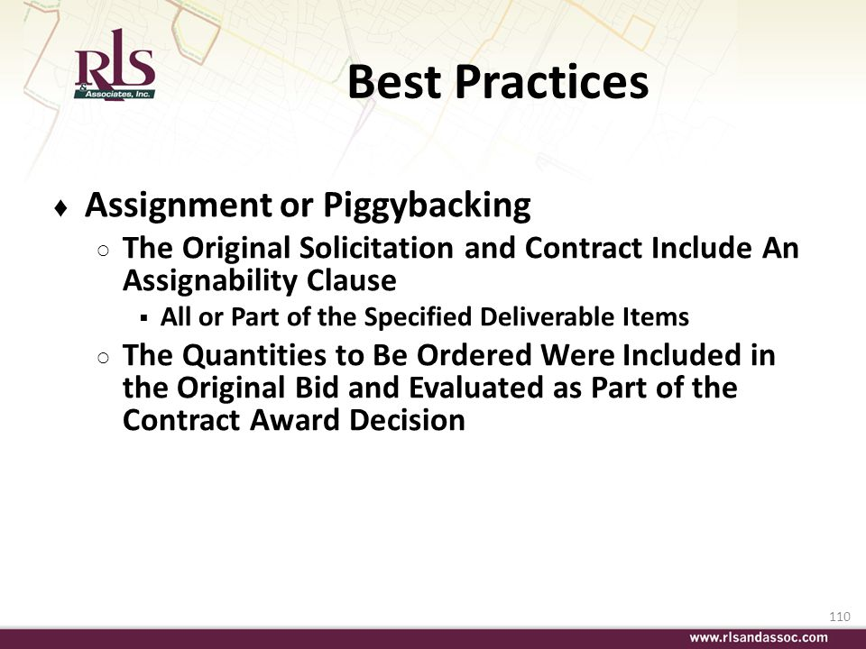 Best Practices Assignment or Piggybacking