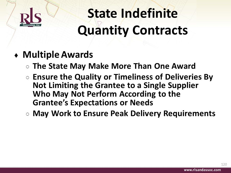 State Indefinite Quantity Contracts