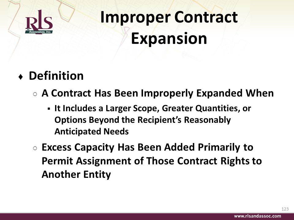 Improper Contract Expansion